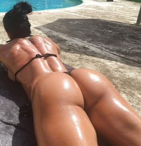 Ana Cozar's Oiled Fit Butt