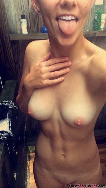 Fit Girl Shower Selfie