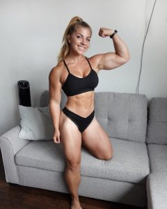 Cute Fitness Babe Flexing