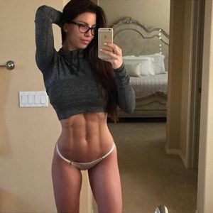Fit Chick Abs Selfie