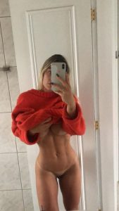 Fit Girl Tan Lines Selfie