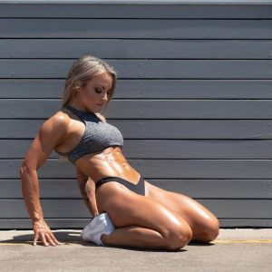 Muscle Babe Stretching