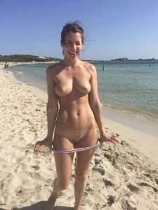 Topless Fit Beach Babe